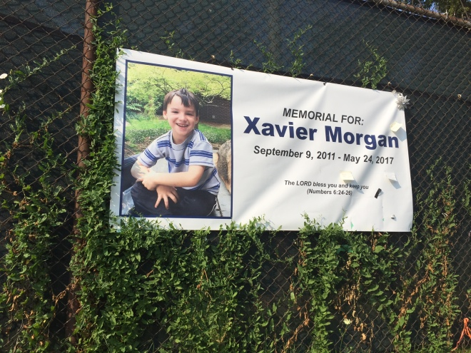 Xavier Morgan memorial